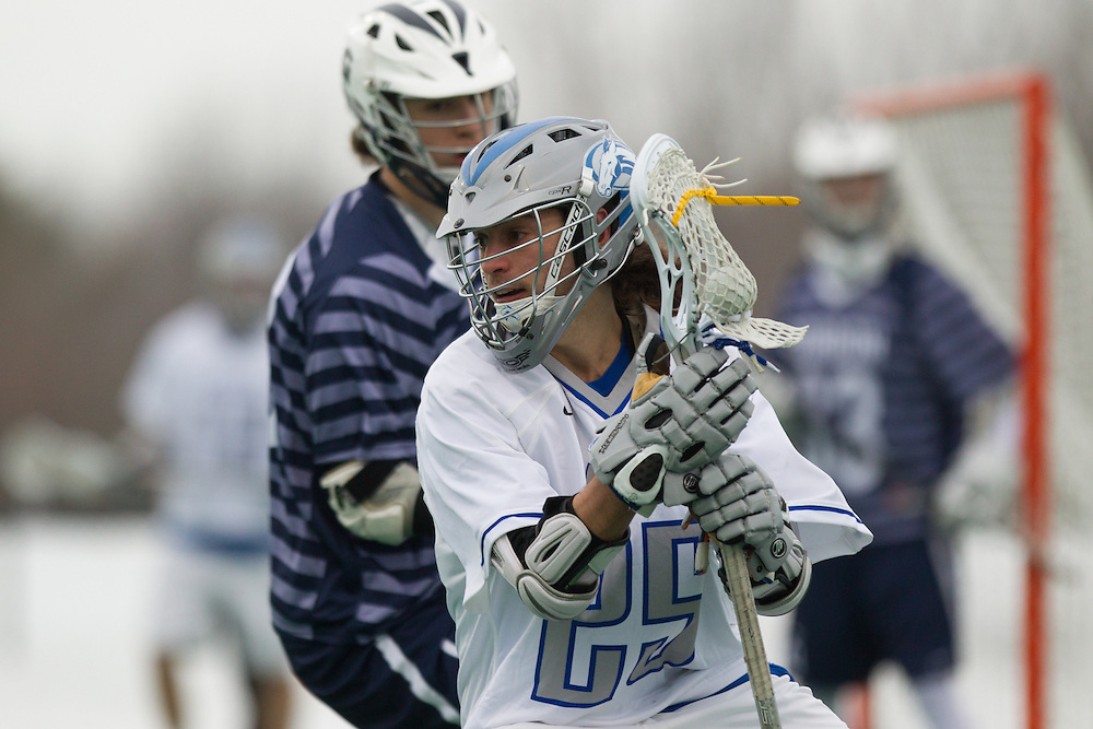 Colby College midfielder, Jeff Vaz, during a NCAA Division III men's lacrosse game against at Gordon College on March 11, 2014 in Waterville, ME. (Dustin Satloff/Colby Athletics)