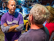 29 JUNE 2019 - DES MOINES, IOWA: JOHN DELANEY, former Maryland Congressman, talks to people after he spoke at a town hall meeting sponsored by the Asian and Latino Coalition. Delaney is running to be the Democratic nominee for the US Presidency in the 2020 election. He was the first Democratic presidential candidate to visit all 99 of Iowa's counties in the 2020 cycle. Iowa traditionally hosts the the first election event of the presidential election cycle. The Iowa Caucuses will be on Feb. 3, 2020.    PHOTO BY JACK KURTZ