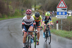 Ashleigh Moolman Pasio tries to bridge to the leaders at Strade Bianche - Elite Women. A 127 km road race on March 4th 2017, starting and finishing in Siena, Italy. (Photo by Sean Robinson/Velofocus)