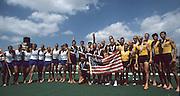 Zagreb, CROATIA.  2000 FISA World Rowing Junior & Non-Olympic Seniors Championships   [Mandatory Credit Peter Spurrier/Intersport Images]Zagreb, CROATIA. USA LM8+,  celebrate after the medal presentation, LM8+  .Bow, MILLER  Erik,  .2. MACK .David, 3. FEDYNA Bill  4. WINKLER Gabe, 5. CASHMAN , 6. SCHWARTZ , 7. MACLAURIN .Angus, stroke, WARNER Steve, cox, FIEN-HELFMAN .Joshua  2000 FISA World Rowing Junior & Non-Olympic Seniors Championships   [Mandatory Credit Peter Spurrier/Intersport Images]