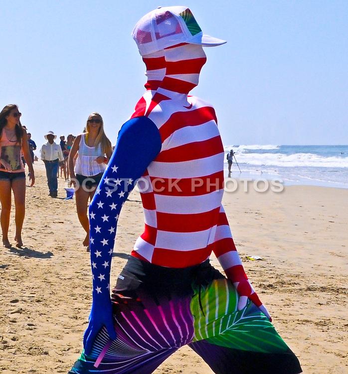 US Open Spectators on the Beach in Huntington Beach California