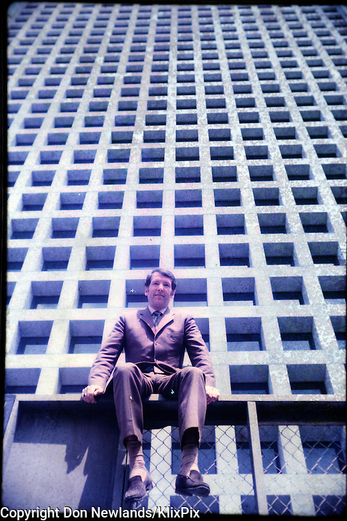 Architect Arthur Erickson. MacMillan Bloedel Building is a twenty-seven storey cast-in-place concrete tower in downtown Vancouver