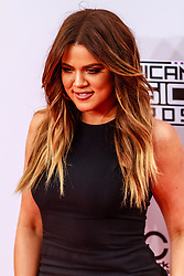 LOS ANGELES, CA NOVEMBER 23: Khloe Kardashian arrives at the 2014 American Music Awards at Nokia Theatre L.A. Live on November 23, 2014 in Los Angeles, California. Byline, credit, TV usage, web usage or linkback must read SILVEXPHOTO.COM. Failure to byline correctly will incur double the agreed fee. Tel: +1 714 504 6870.