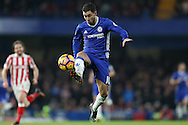 Eden Hazard of Chelsea in action. Premier league match, Chelsea v Stoke city at Stamford Bridge in London on Saturday 31st December 2016.<br /> pic by John Patrick Fletcher, Andrew Orchard sports photography.