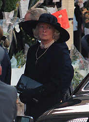 Frances Shand-Kydd leaves Westminster Abbey this afternoon (Saturday) after the funeral service for her daughter, Diana, Princess of Wales.