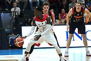 Basketball: Supercup, Deutschland - Russland, Hamburg, 18.08.2017<br /> Dennis Schroeder (GER)<br /> © Torsten Helmke