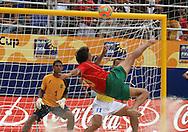 Footbal-FIFA Beach Soccer World Cup 2006 -  Semi Final- BRA xPOR -Hernani-Rio de Janeiro- Brazil - 11/11/2006.<br />Mandatory Credit: FIFA/Ricardo Ayres