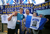 Football - 2015 / 2016 Premier League - Leicester City vs. Everton<br /> <br /> Leicester City fans at their stall selling Scarves and T'Shirts  at the King Power Stadium.<br /> <br /> COLORSPORT/ANDREW COWIE