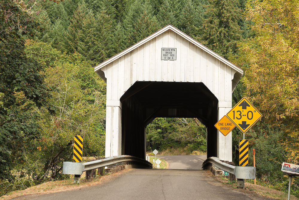The Nelson Mountain Bridge in rural Lane County, Oregon.
