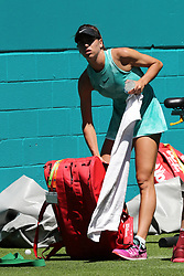 March 22, 2019 - Miami Gardens, Florida, United States Of America - MIAMI GARDENS, FLORIDA - MARCH 22:  Garbine Muguruza on Day 5 of the Miami Open Presented by Itau at Hard Rock Stadium on March 22, 2019 in Miami Gardens, Florida..People: Garbine Muguruza. (Credit Image: © SMG via ZUMA Wire)