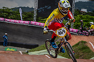 #469 (HERNANDEZ Stefany) VEN at the 2016 UCI BMX World Championships in Medellin, Colombia.