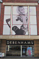 © Licensed to London News Pictures. 11/09/2018<br /> GREENWICH, UK.<br /> Debenhams store in Bromley.<br /> More trouble on the high street as Debenhams shares drop after retailer calls in advisers. The retailer is considering store closures.<br /> Photo credit: Grant Falvey/LNP