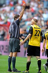 15-08-2010 VOETBAL: UTRECHT - NAC: UTRECHT<br /> FC Utrecht beats NAC, 3-1 / Red card for Jens Janse after his second yellow card <br /> ©2010-WWW.FOTOHOOGENDOORN.NL