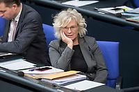 14 FEB 2019, BERLIN/GERMANY:<br />  Christine Lambrecht, MdB, SPD, Parlamentarische Staatssekretaerin im Bundesministerium der Finanzen, Bundestagsdebatte, Plenum, Deutscher Bundestag<br /> IMAGE: 20190214-01-076<br /> KEYWORDS: Bundestag, Debatte