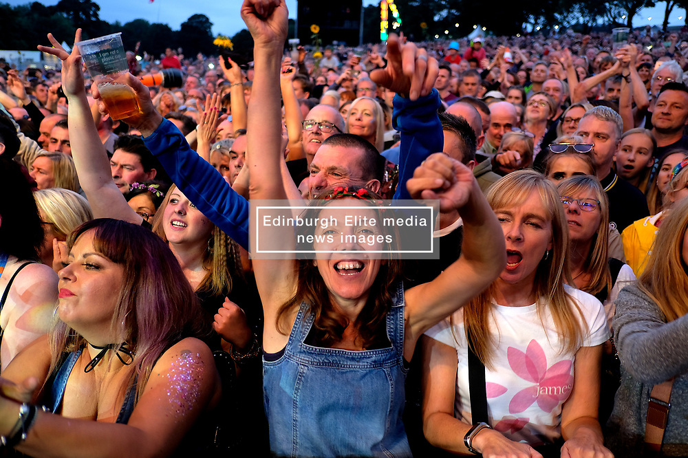 Party At The Palace, Saturday 11th August 2018<br /> <br /> Pictured: James headline on the first day<br /> <br /> Aimee Todd   Edinburgh Elite media