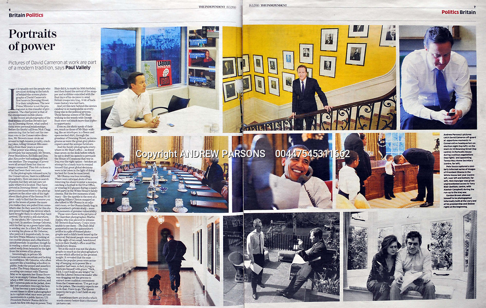 Double page spread in The Independent on portraits of power