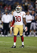 San Francisco 49ers cornerback Prince Charles Iworah (30) looks on during the 2016 NFL preseason football game against the San Diego Chargers on Thursday, Sept. 1, 2016 in San Diego. The 49ers won the game 31-21. (©Paul Anthony Spinelli)