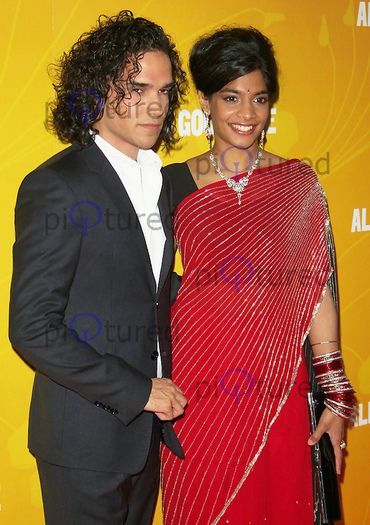 LONDON - MAY 08: Amara Karan & Reece Ritchie attend the UK premiere of All In Good Time at BFI Southbank, London, UK, May 08 2012. (Photo by Brett D. Cove)