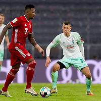 21.11.2020, Allianz Arena, Muenchen, GER,  FC Bayern Muenchen SV Werder Bremen <br /> <br /> <br />  im Bild Jerome Boateng (FCB #17) mit Maximilian Eggestein (SV Werder Bremen #35) <br /> <br /> <br /> <br /> Foto © nordphoto / Straubmeier / Pool/ <br /> <br /> DFL regulations prohibit any use of photographs as image sequences and / or quasi-video.