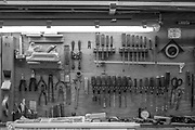 Zurich, SWITZERLAND, Wednesday, 01/06/2016, Stämpfli Racing Boats, Factory, Workshops beside Lake Zurich,<br /> Various Hand Planes, Scraping tools and Wire Brush Hand Tools in their place,<br /> <br /> [Mandatory Credit; Peter SPURRIER/Intersport-images] , Boat and Oar / Blade, Making, Building, Construction,
