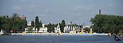 Poznan, POLAND. Start Area at the  2015 FISA European Rowing Championships. Venue, Lake Malta. Saturday 30.05.2015. [Mandatory Credit: Peter Spurrier/Intersport Images]