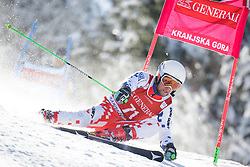 Adam Kotzmann (CZE) competes in 1st Run during Men Giant Slalom race of FIS Alpine Ski World Cup 55th Vitranc Cup 2015, on March 4, 2016 in Kranjska Gora, Slovenia. Photo by Ziga Zupan / Sportida