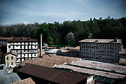 A view of dismissed factory in Biella, Italy. The textile companies in the discrict of Biella decrease from 1127 in 2001 to 729 in 2010 and the worker related to the textile were 22127 in 2001 while in 2010 were 13000.