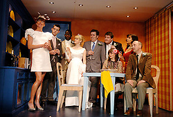 A Respectable Wedding<br /> Translated by Rory Bremner<br /> at the Young Vic Theatre, London, Great Britain<br /> press photocall<br /> 3rd April 2007<br /> <br /> Doon Mackichan and cast<br /> <br /> Photograph by Elliott Franks