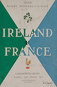 Rugby 1955-22/01 Five Nations Ireland Vs France