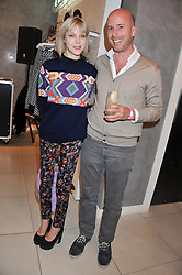 ANTONIA CAMPBELL-HUGHES and EOIN LYONS at a party to celebrate the launch of Louise Gray's make-up and clothing collections for Topshop held at Topshop Edited, 286 Regent Street, London on 22nd August 2012.