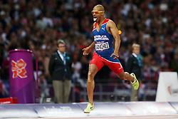 Olympics - London 2012 Olympic Games - 6/8/12.Athletics - Men's 400m Hurdles Final - Domican Republic's Felix Sanchez .© pixathlon