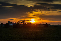 Sunsets over Stanford Illinois on a muggy June night in Central Illinois