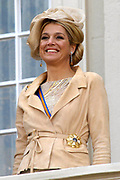 """Prinsjesdag 2007 in The Hague. <br /> <br /> On the Photo:  Maxima  at the """"balcony Scene"""""""