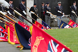 © Licensed to London News Pictures. 11/05/2013. London, UK. The 70th anniversary of the Battle of the Atlantic is marked by a service of commemoration at the Merchant Navy Memorial on Tower Hill in London. The service was attended by family and friends of the 23,832 recorded names at the site and serving Merchant Navy and Royal Navy personnel. Photo credit : Vickie Flores/LNP