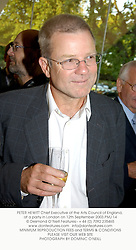 PETER HEWITT Chief Executive of the Arts Council of England, at a party in London on 12th September 2003.PMJ 14