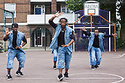 Abyss dance troup, X factor finalsits performing at the Pathways Project launch by Souther Housing Group, Stamford Hill Estate London. The pathways project is a voluntary information, support and guidance service aimed at young people aged 16-25 years in Hackney.
