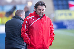 Falkirk's manager Paul Hartley at the start. Falkirk 3 v 1 Inverness Caledonian Thistle, Scottish Championship game played 27/1/2018 at The Falkirk Stadium.