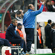 Azerbaijan's coach Berti VOGTS (R) during their UEFA EURO 2012 Qualifying round Group A soccer match Turkey betwen Azerbaijan at TT Arena in Istanbul October 11, 2011. Photo by TURKPIX