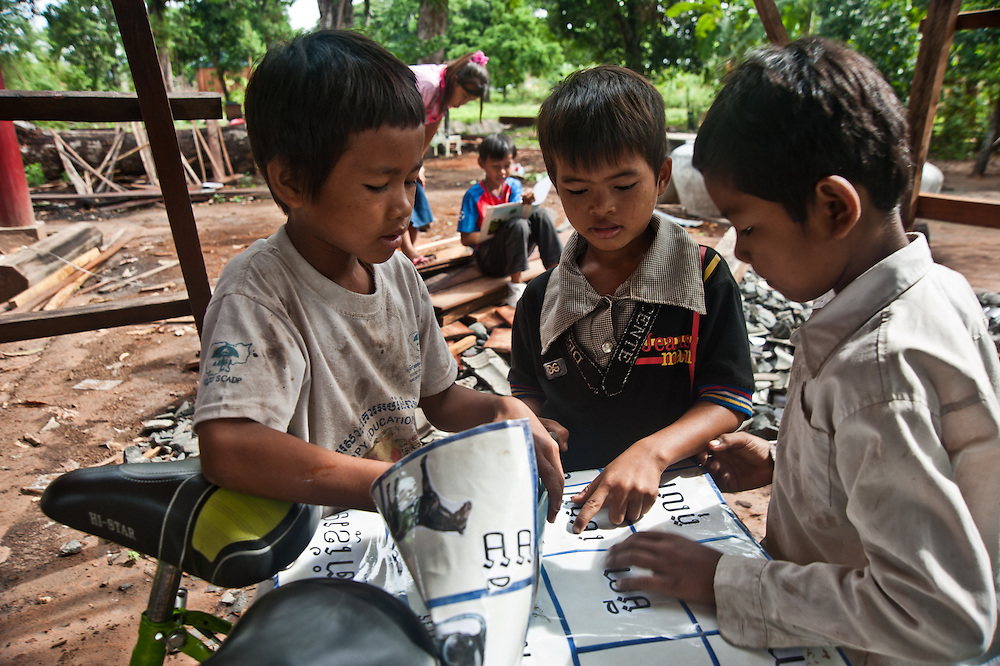 """Chheu Teal Korng village:.Remarkable how much CWS has accomplished here in less than a.year, because they are working with such a willing and committed local committee. Kindergarten for 21 students in village.  Teacher is 18 year old Nen Sras who said, """"These children grow up so far from everything.  With this.Kindergarten I can at least give them a headstart for primary.school."""""""