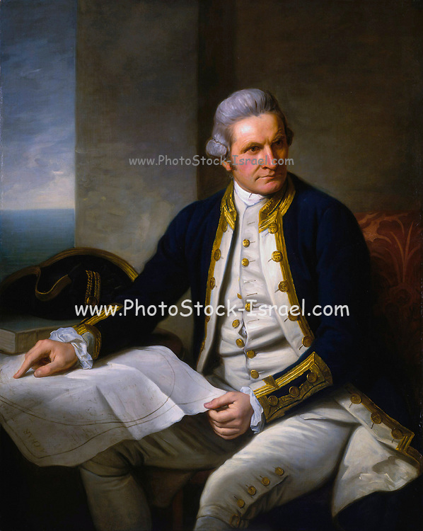 Portrait of Captain James Cook by Sir Nathaniel Dance-Holland, oil on canvas, c.1775, National Maritime Museum, Greenwich. Captain James Cook FRS (7 November 1728 – 14 February 1779) was a British explorer, navigator, cartographer, and captain in the British Royal Navy.