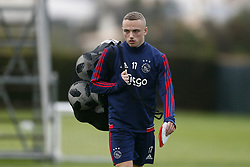 Noah Lang of Ajax during a training session of Ajax Amsterdam at the Cascada Resort on January 09, 2018 in Lagos, Portugal