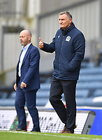 Blackburn Rovers' Manager Tony Mowbray gives the thumbs up to Sam Gallagher after scoring his team's 4th goal<br /> <br /> Photographer Dave Howarth/CameraSport<br /> <br /> The EFL Sky Bet Championship - Blackburn Rovers v Reading - Saturday 18th July 2020 - Ewood Park - Blackburn<br /> <br /> World Copyright © 2020 CameraSport. All rights reserved. 43 Linden Ave. Countesthorpe. Leicester. England. LE8 5PG - Tel: +44 (0) 116 277 4147 - admin@camerasport.com - www.camerasport.com