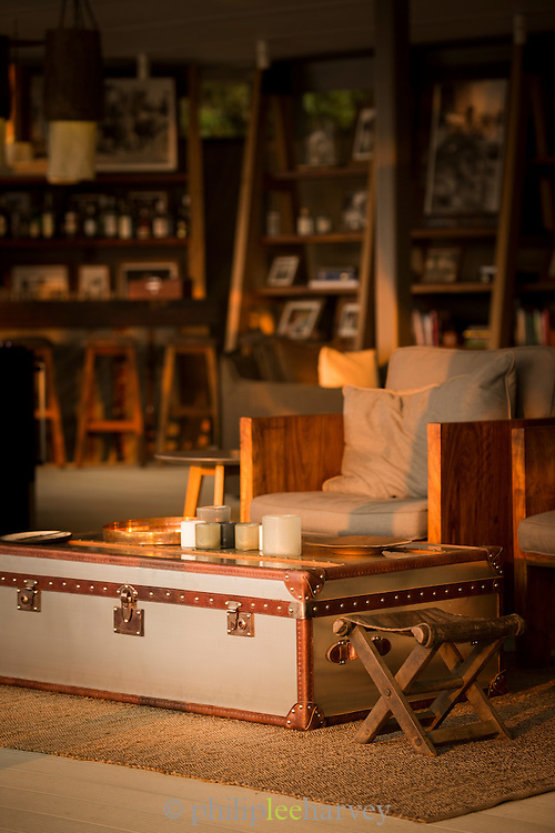 Interior detail at Chinzombo Safari Lodge, Zambia, Africa