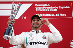 May 13, 2018 - Barcelona, Catalonia, Spain - May 13th, 2018 - Circuit de Barcelona-Catalunya, Montmelo, Spain - Race of Formula One Spanish GP 2018; Lewis Hamilton of Mercedes-AMG-Petronas Formula One Team wins the Spanish GP. (Credit Image: © Eric Alonso via ZUMA Wire)