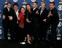 57th Annual Emmy Awards  -- Los Angeles, CA -- The USA TODAY Photo crew after the annual Emmy Awards Awards at the Shrine Auditorium. From left: Jack Gruber, Robert Hanashiro, Sharon Fujita, Noreen Figueroa, Kevin Eans, Mick Cochran and Dan MacMedan.