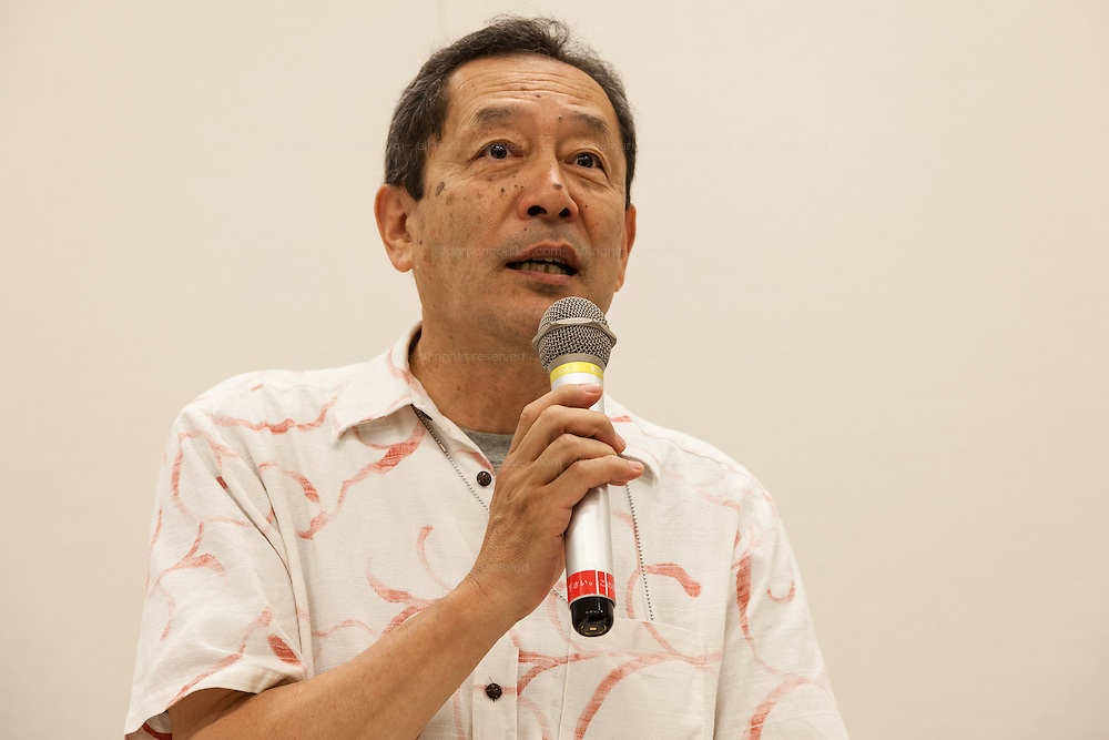 "Ex SDP politician, Ryoichi Hattori speaks at a press conference by rape Survivor and activist, Catherine ""Jane"" Fisher in the First Office Building of the Members of the House of Representatives, Nagatacho, Tokyo, Japan, Friday July 18th 2014. Ms Fisher was raped near Yokusuka US Naval Base in Kanagawa in 2002 and has been campaign for the rights of rape victims in Japan since after finding the US Military and Japanese police obstructive and uninterested in bringing her attacker to justice."
