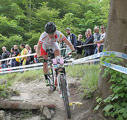 01.06.2014, Bullentaele, Albstadt, GER, UCI Mountain Bike World Cup, Cross Country Damen, im Bild Elisabeth Osl Oesterreich // during Womens Cross Country Race of UCI Mountainbike Worldcup at the Bullentaele in Albstadt, Germany on 2014/06/01. EXPA Pictures © 2014, PhotoCredit: EXPA/ Eibner-Pressefoto/ Langer<br /> <br /> *****ATTENTION - OUT of GER*****