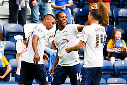 Daniel Johnson of Preston North End celebrates after scoring the equalising goal to make it 1-1 - Mandatory byline: Matt McNulty/JMP - 07966386802 - 22/08/2015 - FOOTBALL - Deepdale -Preston,England - Preston North End v Ipswich Town - Sky Bet Championship