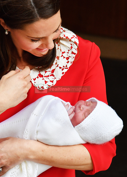 The Duchess of Cambridge with her newborn son outside the Lindo Wing at St Mary's Hospital in Paddington, London.