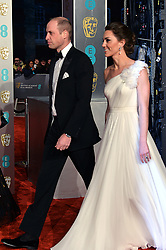 February 11, 2019 - London, New York, United Kingdom of Great Britain and Northern Ireland - Prince William, Kate Middleton arriving at the EE British Academy Film Awards on at the Royal Albert Hall on February 10 2019 in London, England  (Credit Image: © Famous/Ace Pictures via ZUMA Press)